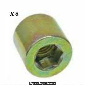 Porsche 911 930 Exhaust Manifold Barrel Nut 99908500102 999 085 001 00 Set of 6