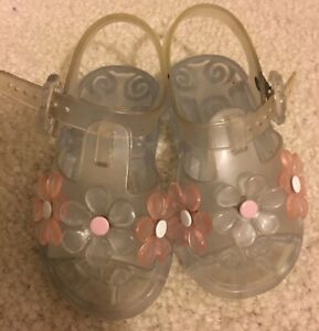 Baby Clear Flower Jelly Shoes Sandals