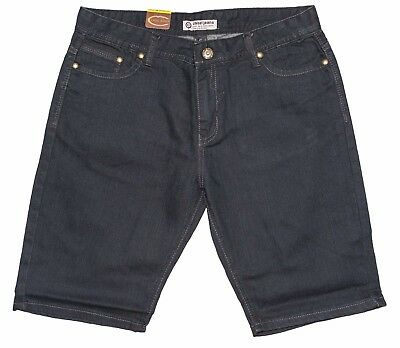 Mens Chisel Jeans Black Stretch Denim Slim Leg Shorts  Sale CJ-2500SS