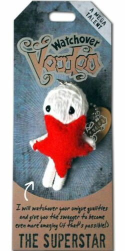 """The Superstar  3/"""" New Lucky Charm Watchover Voodoo Doll"""