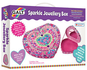 Galt-Toys-Creative-Cases-Sparkle-Jewellery-Box-Craft-Kit-FREE-amp-FAST-DELIVERY