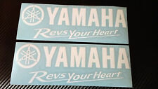 2 x YAMAHA Revs Your Heart Decals Stickers for wheels,panels,tank,fairing