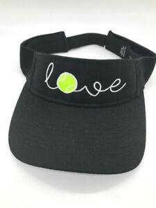 Tennis Visors NEW Women/'s Team Hats Black Gifts NWT Cool Tennis Partner Hats