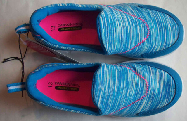 Danskin Now Girls Memory Foam Slip-on Athletic Shoes with Multi Color Accent