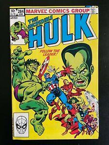 Incredible Hulk #288 VG 1983 Stock Image Low Grade
