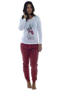 prezzo più basso 01567 e5504 Dettagli su Novità da Donna Modello Coniglio Pigiama Impostato con Scozzese  Pantaloni in