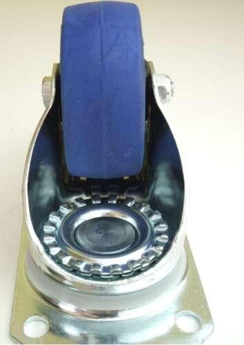 Bockrollen BLUE WHEELS Transportrollen 1 Set SL 80 mm Lenkrollen mit Bremse