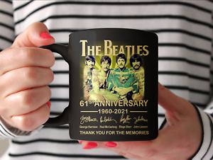 The-Beatles 61st Anniversary 1960 2021 Music Boyband Fan Coffee Mug Gift