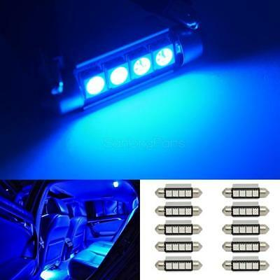 211-2 6451 Festoon Interior Light Package 4x Blue LED Map Dome Lamp T10 194 168