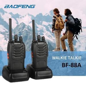 2x-Baofeng-BF-88A-Two-Way-Radio-Flashlight-Ham-Walkie-Talkie-US-FRS-Licence-Free