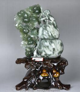 14-034-chinois-naturel-naturel-Xiu-Jade-Jadeite-Singe-Gourde-feuille