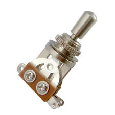 Chrome Electric Guitar 3 Way Toggle Switch Pickup Selector With Brass Tip Knob