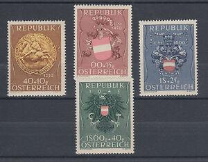 Austria-Sc-B264-B267-MLH-1949-Coat-of-Arms-Semi-Postals-cplt-F-VF