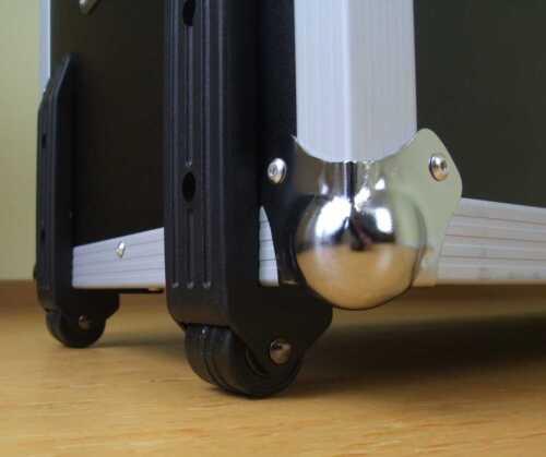 Kistenfuß Je 2 x 40 mm Bockrolle Kantenaufbaurolle Anbaurolle Transportrollen