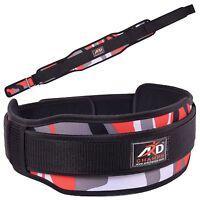 Ard Champs™ Neoprene Weight Lifting Belt Back Support Belt 5 Wide Red Camo