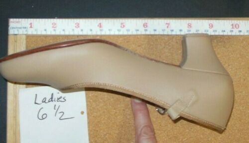"""Character Shoes ch//ladies Tan  #3508 dance 1.5/""""heel leather sole RUNS SMALL"""