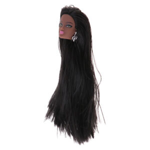 Fashion Long Straight Hair Styling Doll Head Toy Beauty Makeup Artist Gift