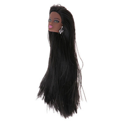 Straight Long Hair DIY Making Doll Accessories 25cm Fluorescent Green