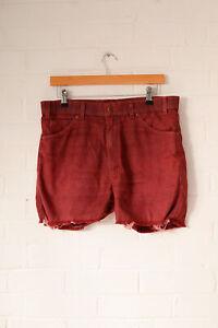Vintage-Levi-039-s-Denim-Shorts-Rot-w34