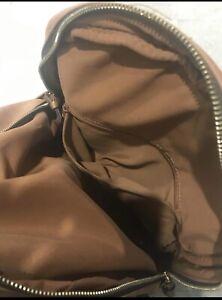 ladies-Accessorize-Spacious-Tan-Faux-Leather-handbag-backpack-Rucksack