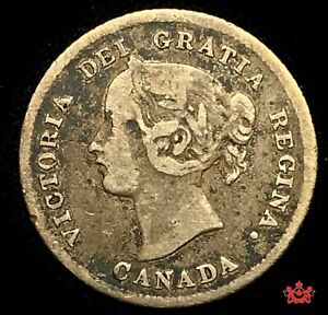 1874H-Canada-5-Cents-PL4-F-VF-Lot-700