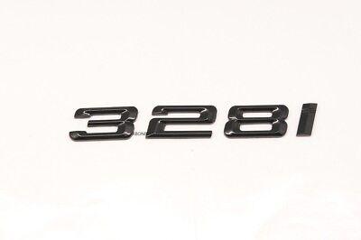 GLOSS BLACK 330i Trunk Emblem Badge Letters For BMW 3-Series Model