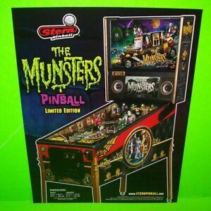The-Munsters-Pinball-Machine-FLYER-Limited-Original-Horror-Halloween-Gothic