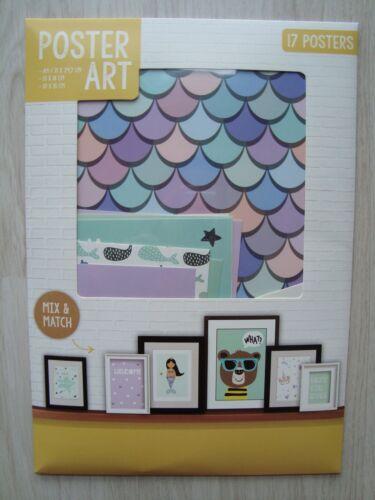 17 Bilder für Bilderrahmen Posterkarten Kinderzimmer Blumen Poster Art