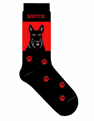 Scottish Terrier Socks Lightweight Cotton Crew Stretch