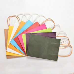 Image Is Loading 5x Party Paper Carrier Bags With Twisted