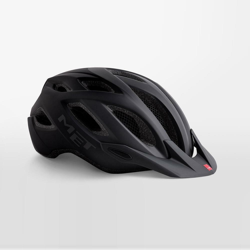 Met Crossover Bicicletta Casco Sicurezza LED Integrato  Nero Opaco