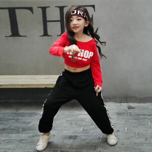 Image is loading Girls-Children-039-s-Jazz-Hip-Hop-Dancewear-  sc 1 st  eBay & Girls Childrenu0027s Jazz Hip-Hop Dancewear Kids Dance Kids Show ...