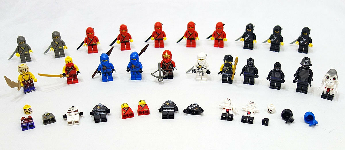 LEGO Lot of  21 Ninjas & Ninjago Character Minicifras uomoy completare + Extras  economico e di alta qualità
