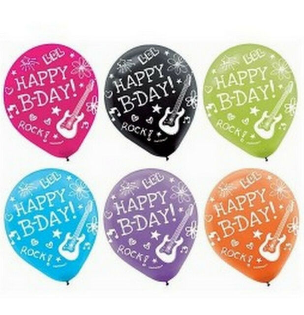 Neon Doodle Happy Birthday Latex Balloons (6 pack) - 110111