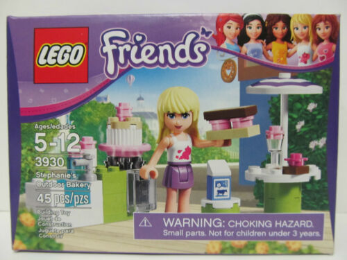 LEGO FRIENDS Stephanie/'s Outdoor Bakery #3930 45 pc set Age 5+