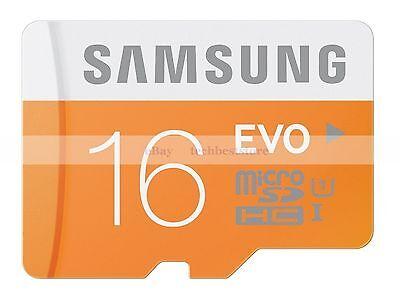 Samsung 16GB MircoSDHC EVO Flash Memory Card 16G 16 G GB Micro SD HC