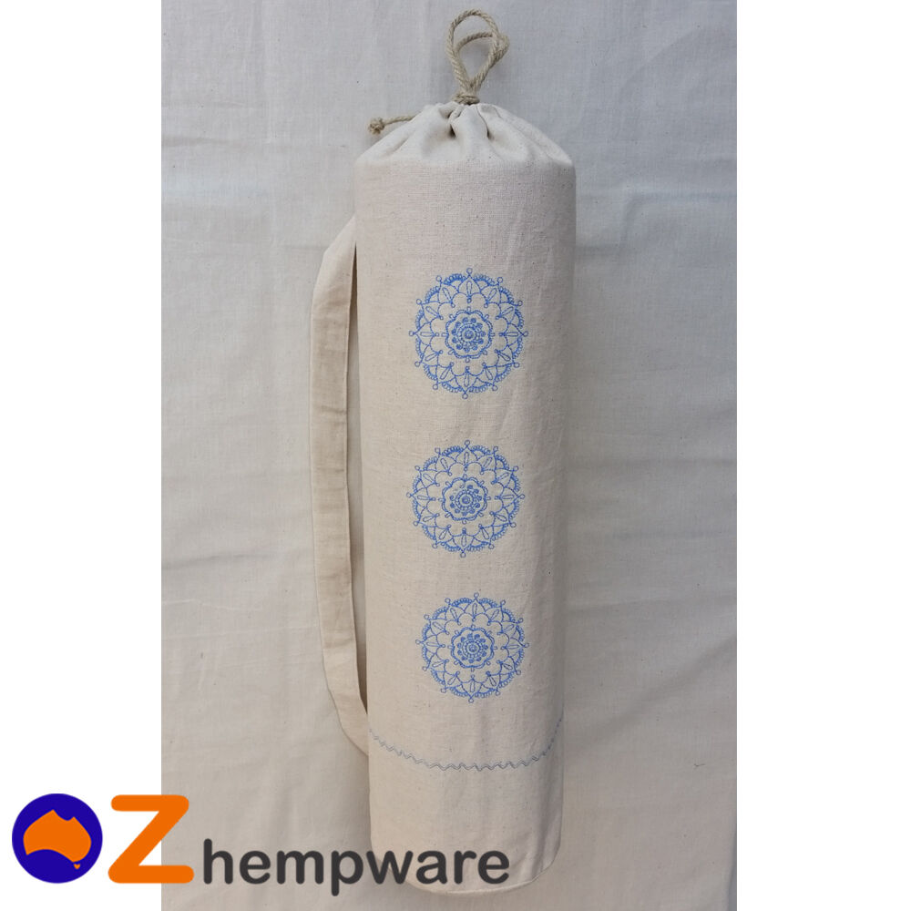 YOGA PILATES MAT CARRY BAG ECO HEMP ORGANIC PILATES YOGA FITNESS 8c01c7