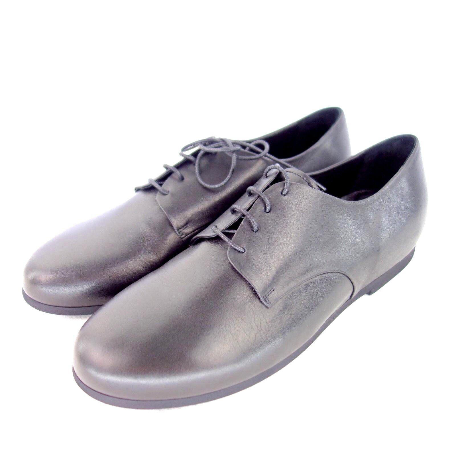 Volere Maria Fiori women shoes Basse Loafer black pelle Tinta Unita Np 219 Nuovo