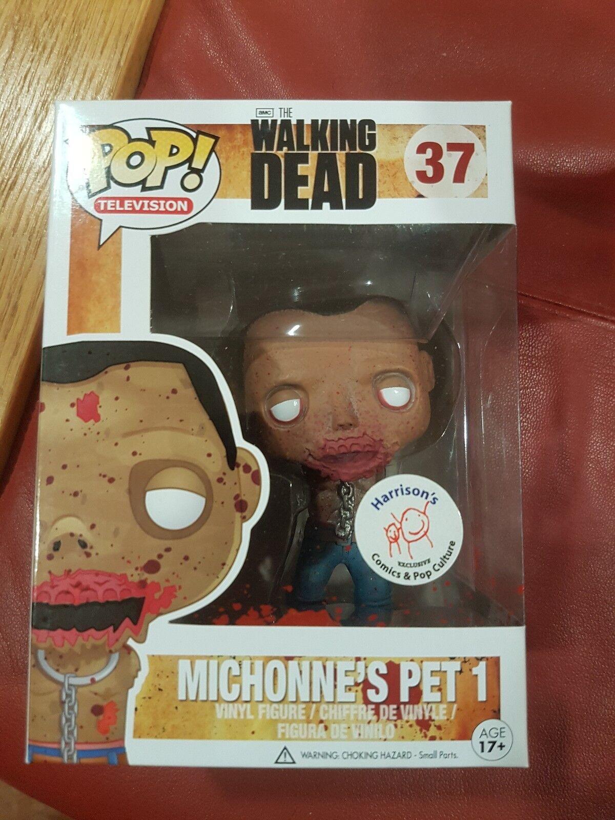 Walking dead FUNKO POP Harrison's Comics sanglante Exclusive Michonne's pet 1  37