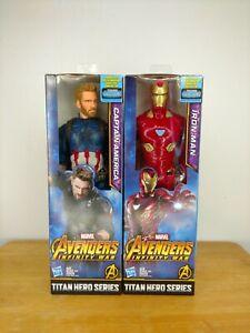 Nouveau-Marvel-avengers-Titan-Captain-America-et-Iron-man-12-034-action-figures-2-Pack