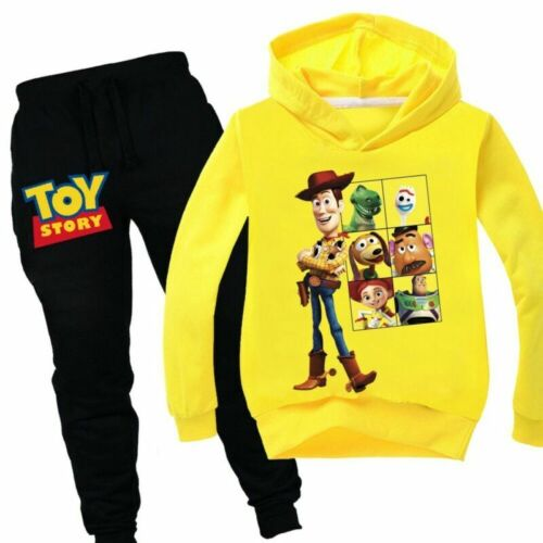 Toy Story 4 Kids Boys Girls Outfits Clothes Long Sleeve Hoodie   Tops+Pant 3-12Y