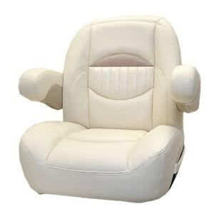 Marine Captains Chair ... VINYL NON RECLINING PONTOON BOAT CAPTAINS SEAT CHAIR 766281 | eBay
