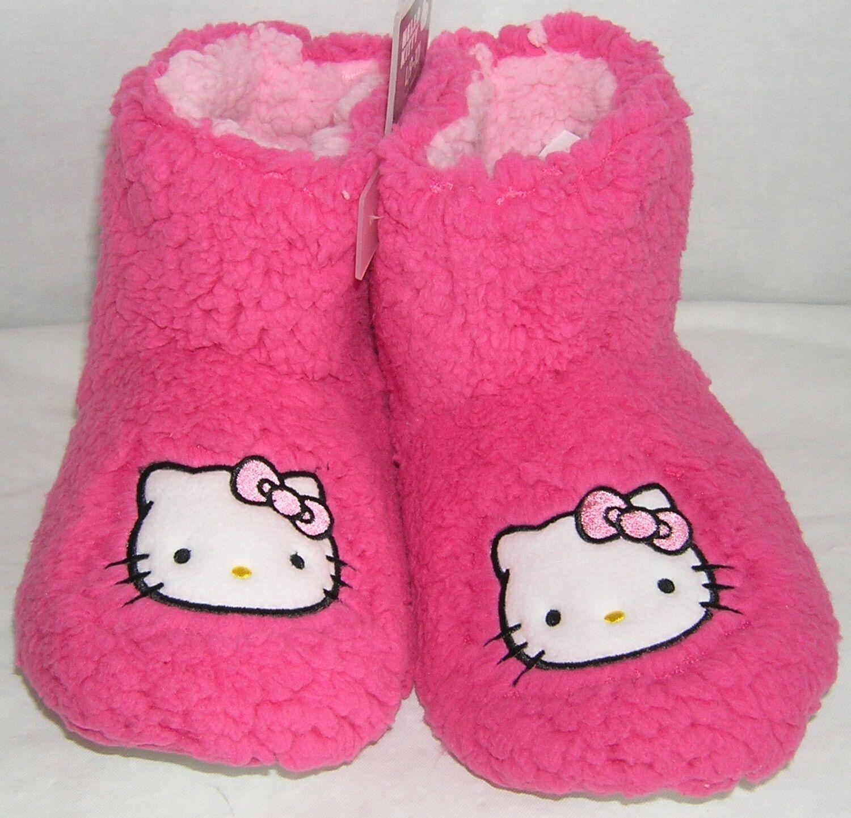 Hello Kitty Slipper Booties PINK PLUSH NICE GIFT FREE USA SHIPPING SMALL 5-6
