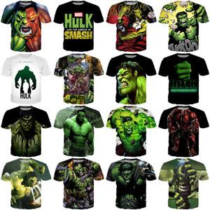 cdb09dbba557ea The Avengers Womens Mens The Hulk Comics Funny 3D Print Casual T ...