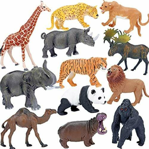 Realistic Jumbo Wild Zoo Figurines Large Safari Playsets Animals Figures Toys