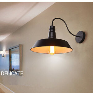 Details About Kitchen Wall Light Home Black Wall Lamp Bedroom Vintage Wall Sconce Bar Lighting
