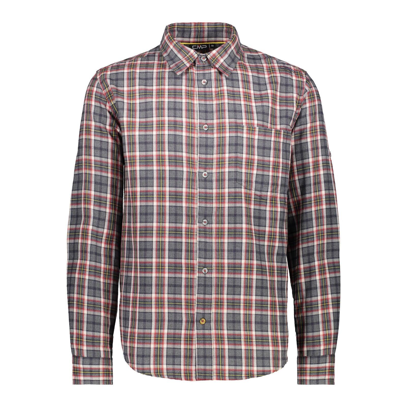 CMP Camicia Man Shirt Grigio Traspirante Facile Pulire Leggero