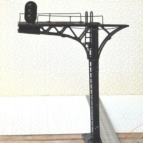 2 x O scale 1:48 Cantilever Signal Bridge prewired LEDs 3 aspects single Track