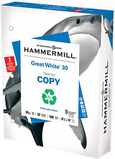 Hammermill Printer Paper Great White 30 Recycled 1 Ream 500 Sheets