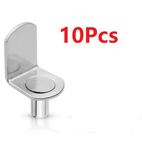 X10 6mm bracket style Metal Furniture Cupboard Shelf Pins Pegs Supports Holder A